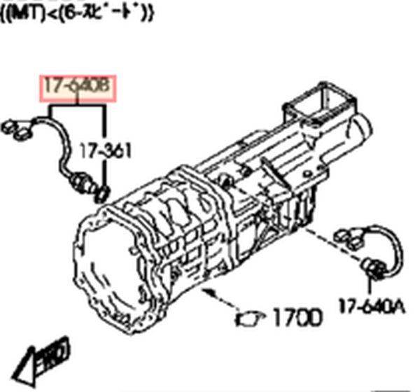 genuine mazda rx8 manual back up reverse switch 2004